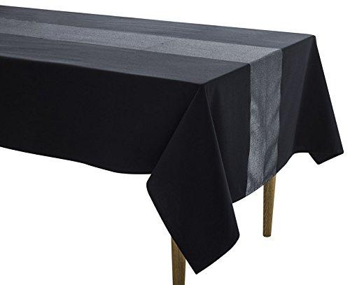 warz/Silber, rechteckige Tischdecke 150x 350cm, gewebte Baumwolle Hervorragende Qualität mit Metallic Silber Garn (Metallic-tischdecke)