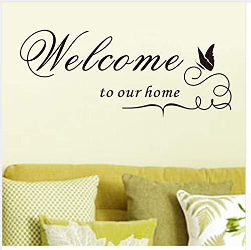 New Quote Removable Vinyl Aufkleber Wandaufkleber Willkommen zu unserem Home Home Decor