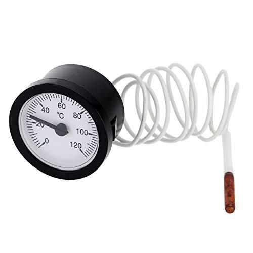 1x Thermometer mit Kapillarrohr 1,5 m 0-120 C Praktisch