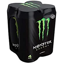 Monster - Green, Bebida energética, 500 ml (Pack de 4), ...