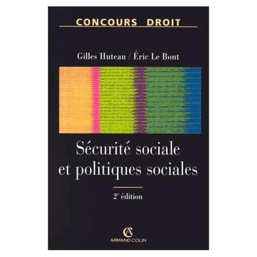 SECURITE SOCIALE ET POLITIQUES SOCIALES. 2ème édition