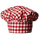 Fancy Flight Chef Hat ( Red And White Check ) (8-10 Years)