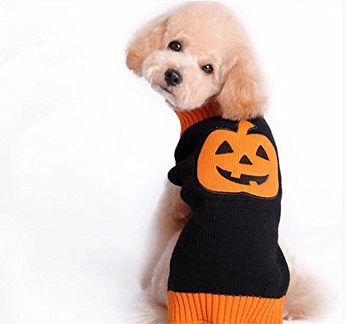 Halloween Frühling und Herbst Winter Haustier hund Pullover small medium large dog pet kleidung , (3 Einfache Kostüme Halloween Bett)