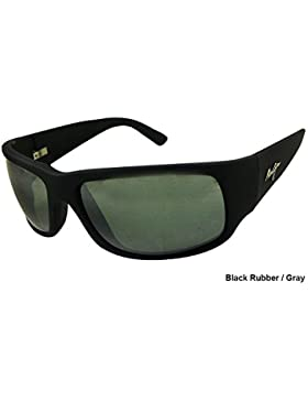 Maui Jim World Cup Wrap Sunglasses in Matte Black Rubber Polarised 266-02MR 64 World Cup 62 Neutral Grey Polarised
