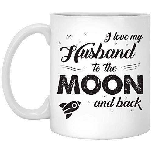 I love my husband to the moon and back Anniversary Mug