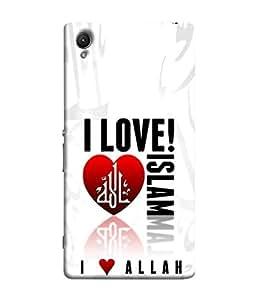 PrintVisa Designer Back Case Cover for Sony Xperia Z5 (I love islam muslim quotes)
