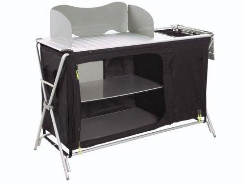 Preisvergleich Produktbild Outwell Erwachsene Küchentisch mit Waschbecken Richmond, Schwarz, 530019