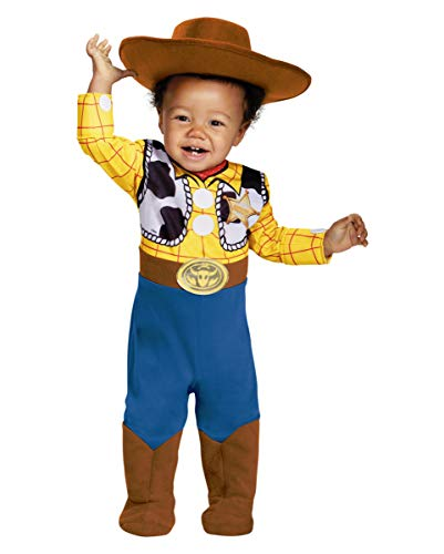 Story Toy Disney Woody Kostüm - Horror-Shop Disney Toy Story Woody Baby Kostüm für Mottoparty & Fasching