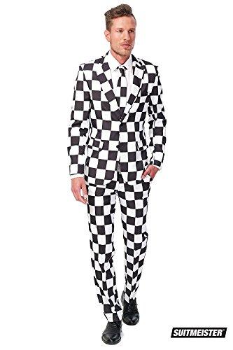 (Generique - Schwarz-weißer Suitmeister Anzug XL)