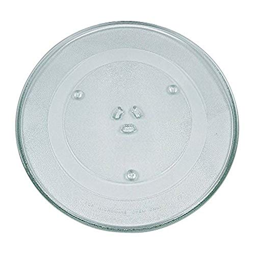 VIOKS Mikrowellenteller Teller Drehteller Glasteller für Mikrowelle Herd Durchmesser: 287 mm 28,7 cm 3 Noppen