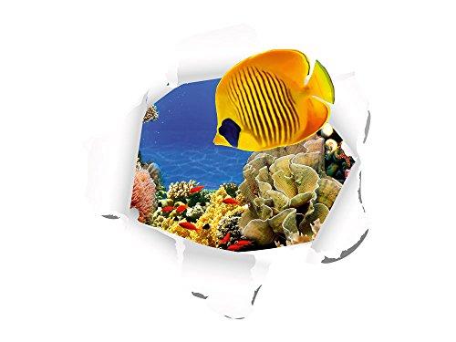 Graz Design 721070_40 Wandsticker Wandtattoo Wandaufkleber Wohnzimmer Badezimmer Tapete Fische (Größe=40x40cm)