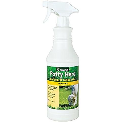 NaturVet Potty Here Training Aid Trigger Spray
