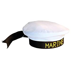 Folat Sombrero de marinero marinero marinero Marinaio Marina sombrero Accesorios marinos sin uniforme