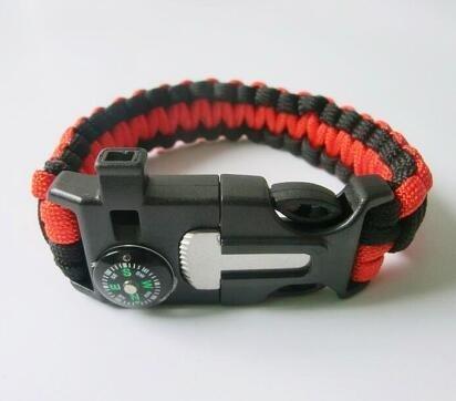 rojo-shihan-supervivencia-paracord-pulsera-camping-exterior-rescatar-cuerda-de-paracaidas-muneca-fli