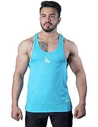 GreyWolf Arch Stringer Aqua Blue Men's Vest For Sports / Gym (Muta_Aqua Blue_Vest05)