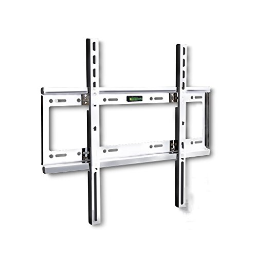 Liutao Edelstahl-LCD-TV-Rack-Wandhalterung 43 50 55 60 Zoll 32-65 Zoll Einteiliger verstärkter Edelstahl (Color : Black, Größe : 47 * 40cm)