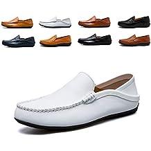 AARDIMI Mocasines Hombres Zapatos de Vestir Casuales Holgazanes Slip On Verano Plano Cuero Zapatos de Conducción