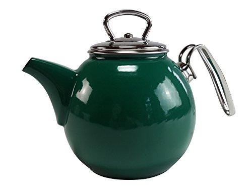 Schwerter Email Teekanne 1,5l grün