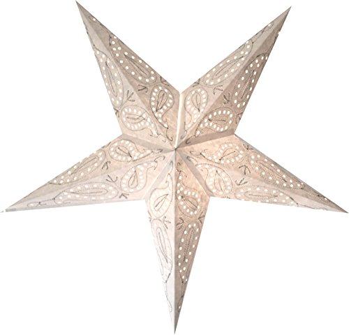 fensterstern Schöner Magic Starlights Leuchtstern Aura weiß handbestickt
