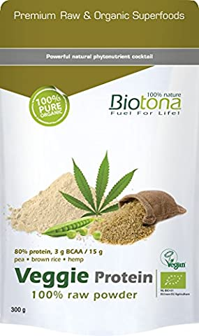 Biotona Veggie Protein 100% Raw Powder -