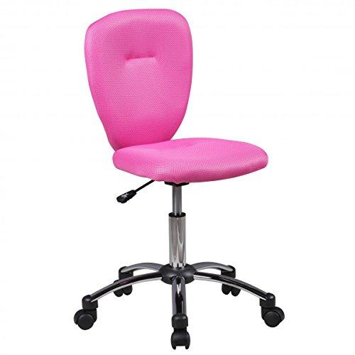 FineBuy Kinder-Schreibtischstuhl Anika für Kinder ab 6 mit Lehne Weichboden-Rollen Kinder-Drehstuhl Kinder-Bürostuhl ergonomisch höhenverstellbar Jugendstuhl für Mädchen Jungen Pink Kinderzimmerstuhl