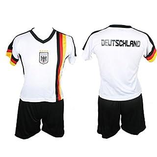 A. Blöchel Kinder Deutschland Trikot Set Trikot und Hose WM EM Germany Kids Verschiedene Größen (L / 146/152)