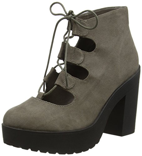New Look Stone, Bottes Classiques femme Gris - Grey (04/Mid Grey)
