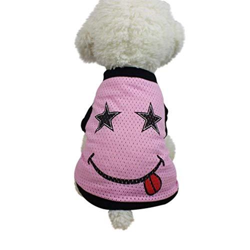 AiBarle pet - Weste, Hund, Kleider, t - Shirt - Kleider - Hund Weste kostüme Sommer (m, rosa)