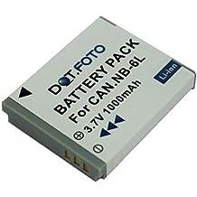 Canon NB-6L, NB-6LH PREMIUM Dot.Foto Batería de Reemplazo - 3.7V/1000mAh - Garantía de 2 años [Vea compatibilidad en la descripción]