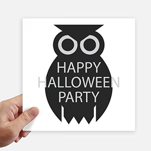 Schwarzes Quadrat Post (DIYthinker Halloween Simple Schwarz Cartoon-Eulen-Quadrat-Aufkleber 20Cm Wand Koffer Laptop Motobike Aufkleber 4Pcs 20cm x 20cm Mehrfarbig)