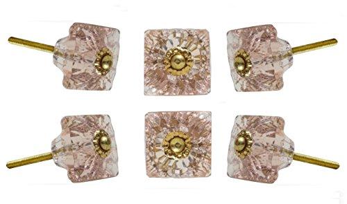 Set von 6mammounia Glas pink Unterschrank Schublade Knöpfe von trinca-ferro