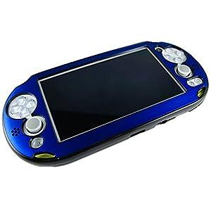 Pandaren PS Vita slim PSV 2000 schlanken Aluminium-Metall-Schutzgehäuse (blau)