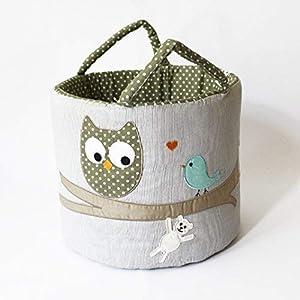 ★ Ø35 Maxi Spielzeug-Tasche, Aufbewahrungsbox, Eule ★