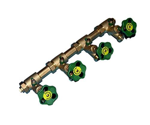 Schlösser Kompakt Verteiler DN25-4 Abgänge DN20-Wasserverteiler inkl. 2 x Rohrschelle und 2 Stockschraube