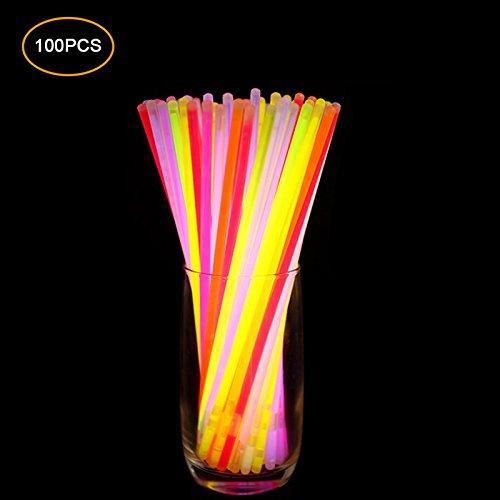 100 stücke Glowstick Neon Party Fluoreszierende Armbänder im Dunkeln leuchten Neon Sticks Partei Liefert
