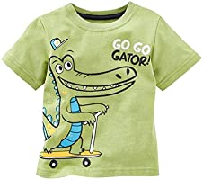 Kids Tshirt Graphic Clothes Tee Shirt Boy Half Sleeve Tshirts Cotton Animal Printed Tops for Girls and Boys 2-8 Years