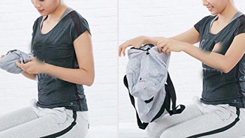LAIDAYE Fitness Yoga Zusammenklappbaren Eimer Tasche Umhängetasche Sporttasche Sporttasche Fitnesstasche Große Kapazität Handtasche Grey