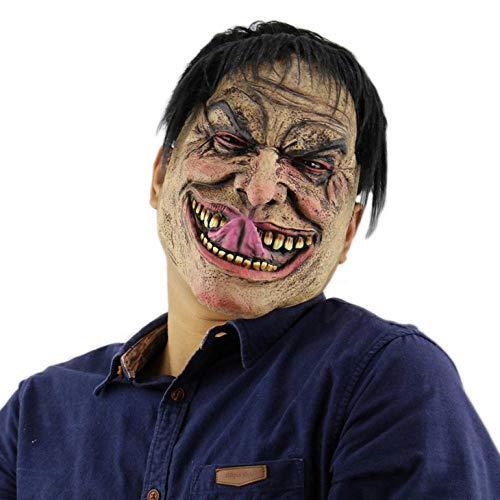 Scary Männer Clown Kostüm - wnddm Gruselig Scary Halloween Cosplay Kostüm Maske Für Erwachsene Party Dekoration Requisiten lustige Mann Maske Horror Latex Clown Maske haube