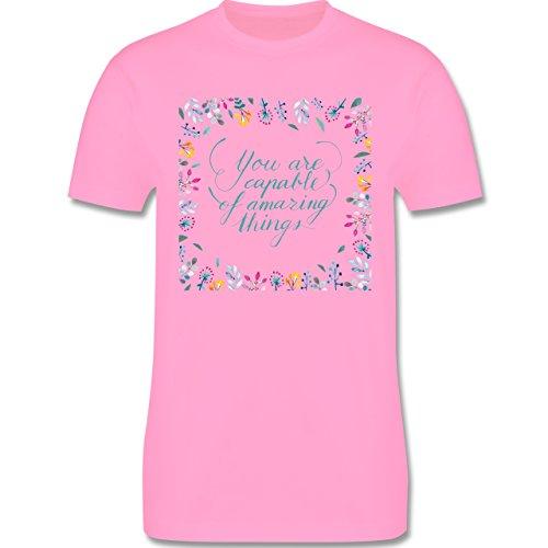 Statement Shirts - You are capable of amazing things - Herren Premium T-Shirt Rosa