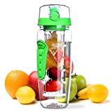 Trend Matters 1000 ML Sport Fruit Infuser Water Bottle, Flip Top Lid