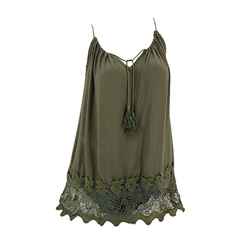atchwork Weste Camis Armellose Bluse Crop Top Tank Tops Basic T-Shirt(XXL,A-Grün) (Halloween Nerd Zubehör)