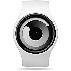 Ziiiro Gravity Snow White Unisex Silikon / Edelstahl Watch wechselbare Uhr Designed in Germany
