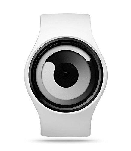 Ziiiro Gravity Snow White Unisex Silikon / Edelstahl Watch wechselbare Uhr Designed...