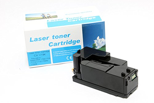 Cartucho original para EPSON Aculaser C 1700Series Epson 0614, C170050614, C13S050614, S050614–PREMIUM de impresoras cartucho–Negro–2.000páginas