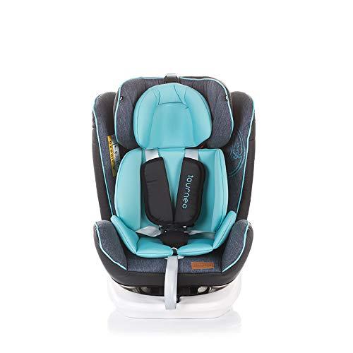 Chipolino Kindersitz Tourneo Gruppe 0+/1/2/3 (0-36 kg), Isofix, 360° drehbar, Farbe:hellblau