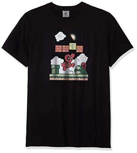 Texlab Super Pool World - Herren T-Shirt, Größe L, Schwarz