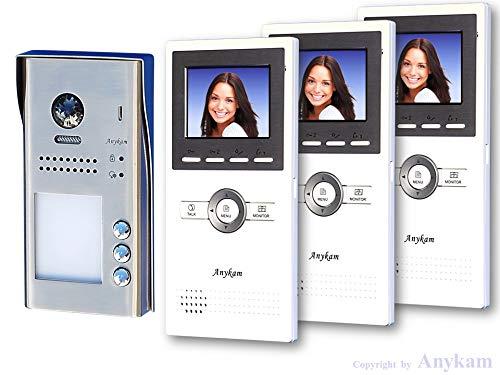 Farb-Video-Türsprechanlage in 2-Draht-Technik für 3-Familienhaus mit DT607 und DT16-Monitor