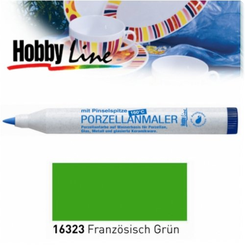 HOBBY LINE Porzellanmaler 160 °C mit Pinselspitze Franz. Grün-HobbyLine