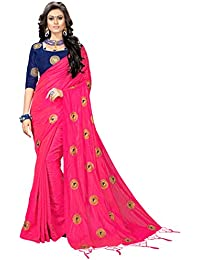 16f7256def8b52 Vaidehi Fashion Paper Silk Embroidered Saree with blouse piece(Golden-Mor)