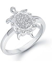 Meenaz Tortoise Ring Fancy Party Wear Ring For Men & Women American Diamond For Girls & Women FR184
